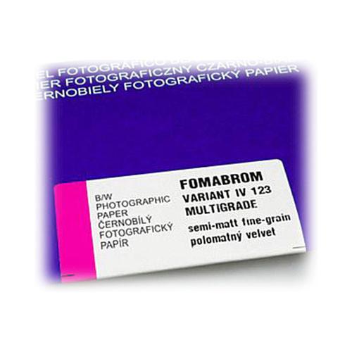 """Foma Fomabrom VC FB Variant IV 123 Black & White Paper (8 x 10"""", 100 Sheets, Velvet)"""
