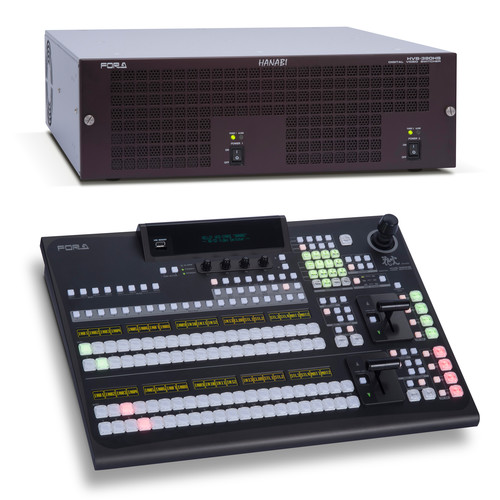 For.A HVS-390HS 2 M/E Video Switcher with 2 M/E 20-Button Control Panel