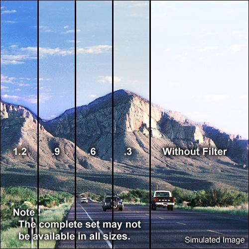 "Formatt Hitech 3 x 3"" Combination Color Conversion 85B/Graduated Neutral Density (ND) 1.2 Filter"