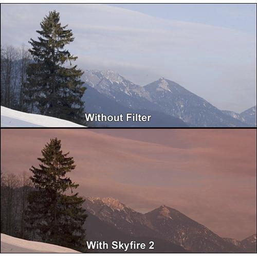 """Formatt Hitech 3 x 3"""" Graduated Skyfire 1 Filter"""