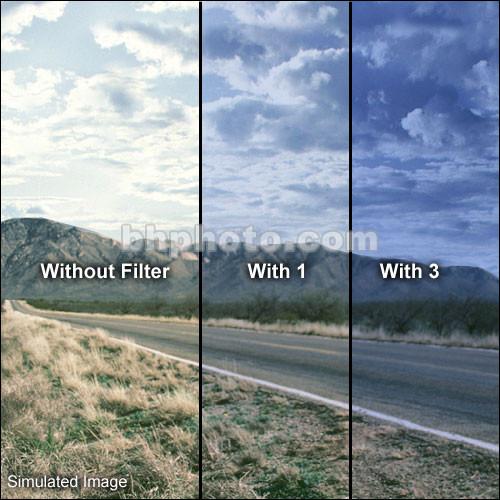 "Formatt Hitech 4x5.65"" Solid Color Mid Blue  2 Schott-Desag B270 Crown Optical Glass Filter"