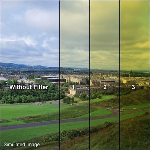"Formatt Hitech 4x4"" Yellow 1 Schott-Desag B270 Crown Optical Glass Filter for Black & White Film"