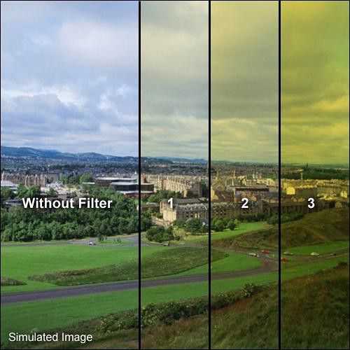 "Formatt Hitech 4x4"" Yellow 3 Schott-Desag B270 Crown Optical Glass Filter for Black & White Film"
