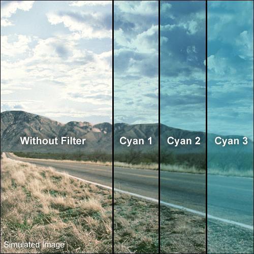 """Formatt Hitech 6.6x6.6"""" Solid Color Cyan 2 Schott-Desag B270 Crown Optical Glass Filter"""