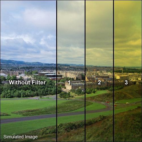 """Formatt Hitech 6.6x6.6"""" Solid Color Yellow  3 Schott-Desag B270 Crown Optical Glass Filter"""