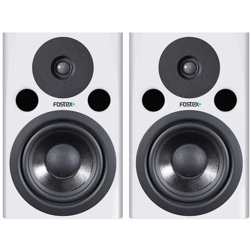 "Fostex PM0.5n 70W 5"" Active Nearfield Studio Monitor Speaker (Pair, White)"