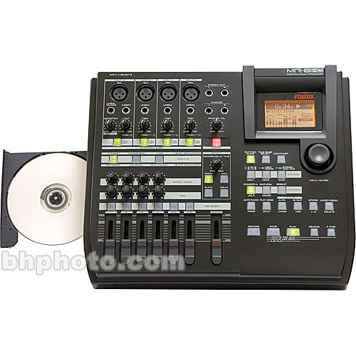 Fostex MR-8HD/CD - 8-Track Digital Recorder with Built-In CD Burner