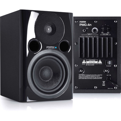 "Fostex PM0.4n 36W 4"" Active Nearfield Studio Monitor Speaker (Pair, Black)"