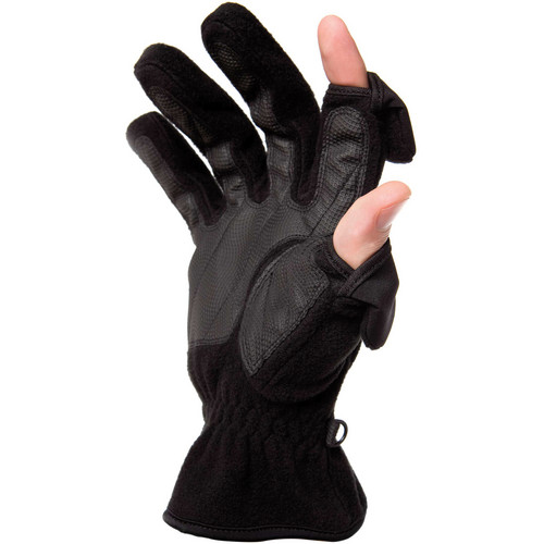 Freehands Women's Unlined Fleece Gloves (Large, Black)