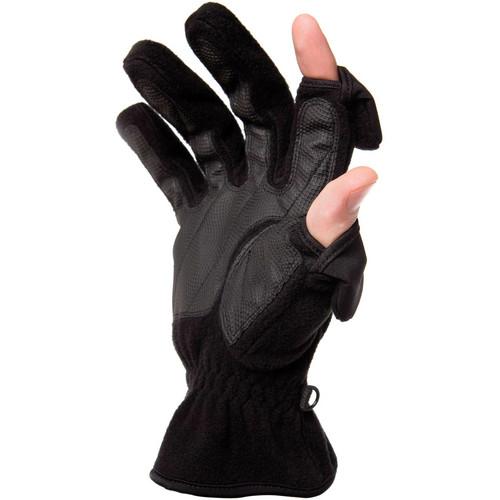 Freehands Women's Unlined Fleece Gloves (Medium, Black)