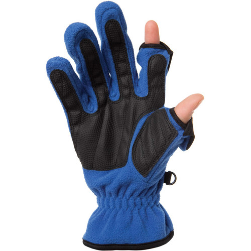 Freehands Women's Unlined Fleece Gloves (Large, Blue)