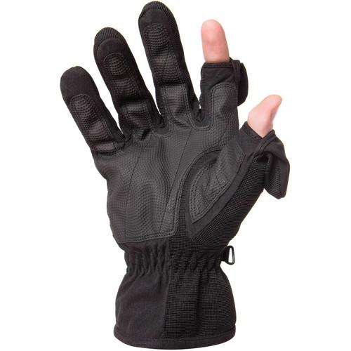 Freehands Men's Stretch Thinsulate Gloves (Medium, Black)