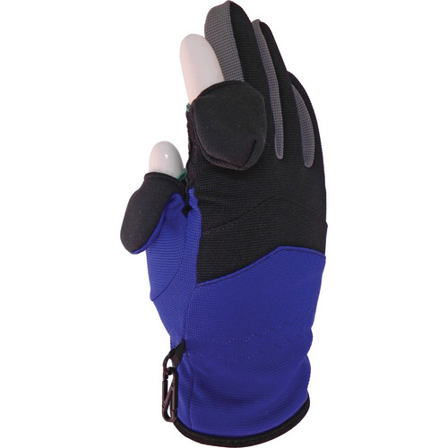 Freehands Stretch Women's Gloves (Medium, Black / Blue / Grey)