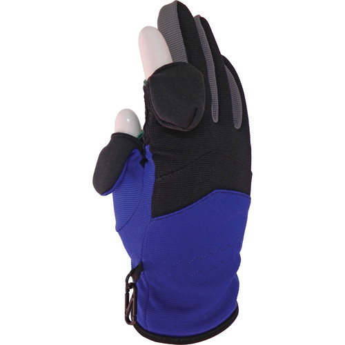 Freehands Stretch Women's Gloves (Small, Black / Blue / Grey)