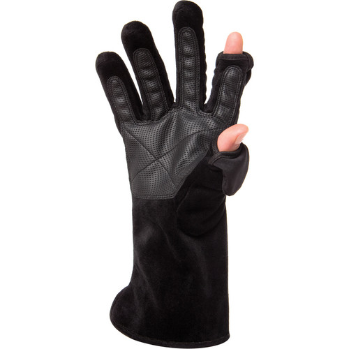 Freehands Women's Microfur Gloves (Large, Black)