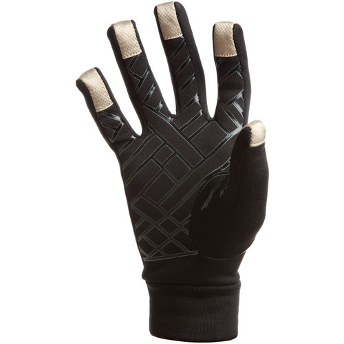 Freehands Power Stretch 5 Finger Liner, Unisex (Medium/Large, Black)
