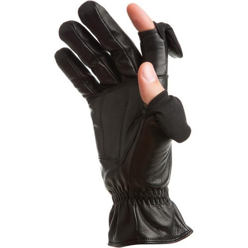 Freehands Men's Leather Gloves (X-Large, Black)