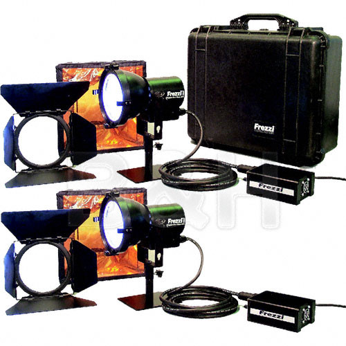 Frezzi 200 Watt Super-Sun Gun HMI 2 Light Kit (110-240V)