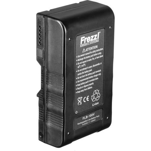 Frezzi FLB-100V 14.8 VDC Lithium Ion Brick Battery - V-Lock (Sony) Mount, 100Wh, Advanced Meter