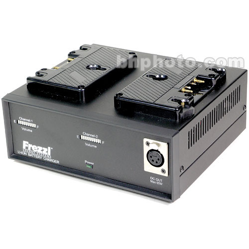 Frezzi FLC-2 Dual Lithium-Ion Battery Charger / Power Supply with Anton Bauer 3-Stud Mount