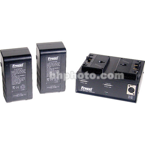 Frezzi LP-3 Lithium-Ion Power Package - 2 FLB-200, FLC-2, AB 3-Stud Battery Style