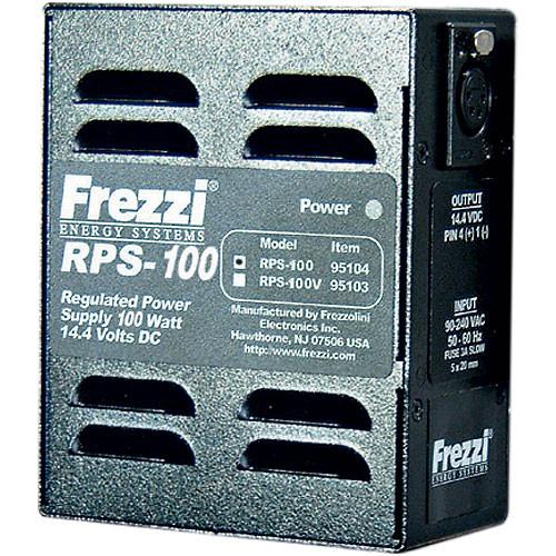 Frezzi RPS-100V On-Camera AC Adapter - 14.4 VDC @ 100 Watts, Sony V-Lock Mount, 4-Pin XLR