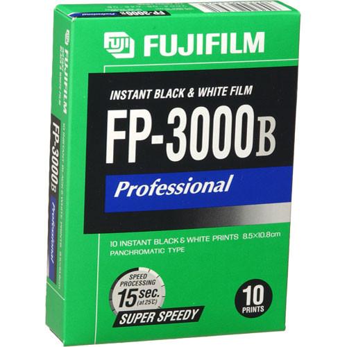 Fujifilm FP-3000B Professional Instant Black & White Film (10 Exposures, Expires 12/2011)
