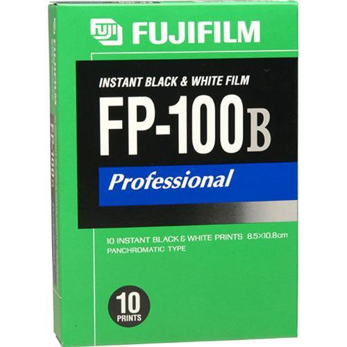 FUJIFILM FP-100B Professional Instant B&W Film (ISO 100) (10 Exposures, Glossy)