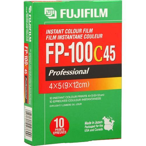 "Fujifilm FP-100C Professional Instant Color Film Glossy, ISO 100, 10 Exposures, 4 x 5"""