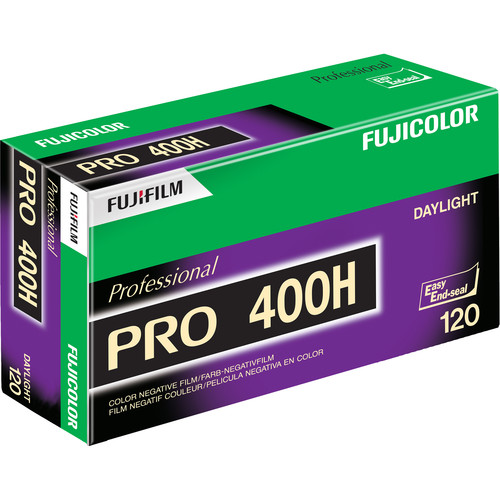 Fujifilm Fujicolor PRO 400H Professional Color Negative Film (120 Roll Film, 5 Pack)