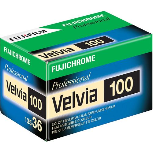 FUJIFILM Fujichrome Velvia 100 Professional RVP 100 Color Transparency Film (35mm Roll Film, 36 Exposures)