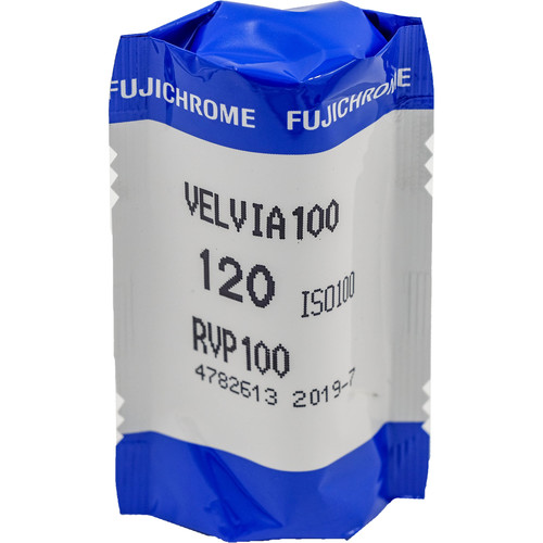 Fujifilm Fujichrome Velvia 100 Professional RVP 100 Color Transparency Film (120 Roll Film, 5 Pack)