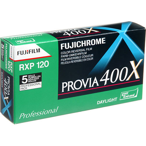Fujifilm Provia 400X (RXP III) 120 Color Slide Film (5 Rolls)