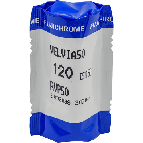 Fujifilm Fujichrome Velvia 50 Professional RVP 50 Color Transparency Film (120 Roll Film)