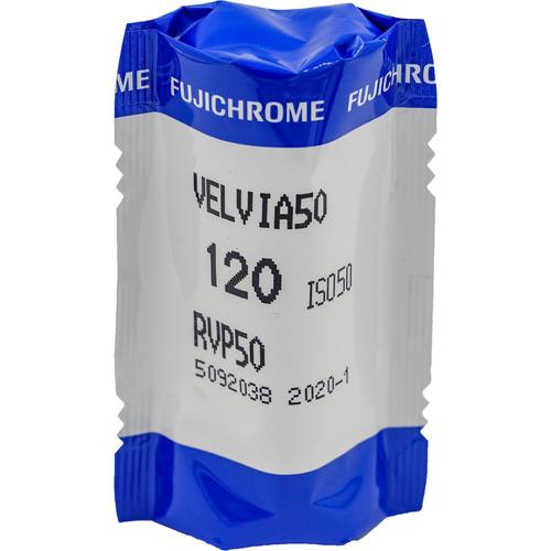 Fujifilm Fujichrome Velvia 50 Professional RVP 50 Color Transparency Film (120 Roll Film, 5 Pack)