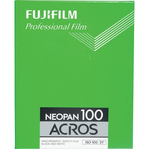 "Fujifilm 4x5"" Neopan Acros 100 Black and White Negative Film (10 Sheets)"
