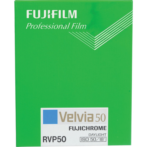 "Fujifilm RVP 8 x 10"" Fujichrome Velvia 50 Professional Color Slide Film (ISO-50, 20 Sheets)"