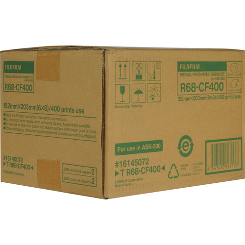 """Fujifilm 6.0x8.0"""" Media For ASK-300 (400 Prints)"""