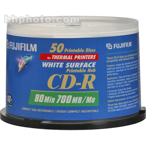Fujifilm CD-R White Thermal Hub Disc (50)