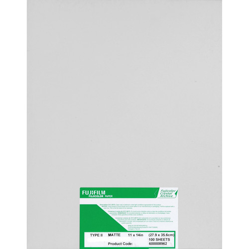 "Fujifilm Fujicolor Crystal Archive Type II Paper (11 x 14"", Matte, 100 Sheets)"