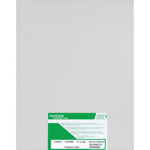 "FUJIFILM Fujicolor Crystal Archive Type II Paper (11 x 14"", Lustre, 100 Sheets)"