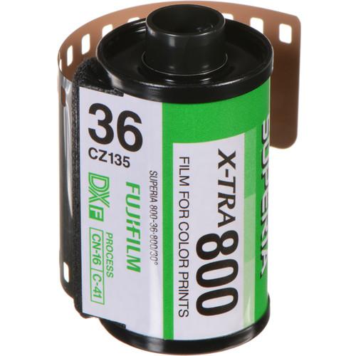 Fujifilm Fujicolor Superia X-TRA 800 Color Negative Film (35mm Roll Film, 36 Exposures)