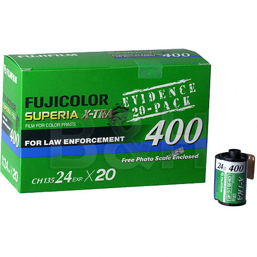 Fujifilm CH 135-24 Superia X-tra 400 Color Print Film (ISO-400) - 20 Roll Pack