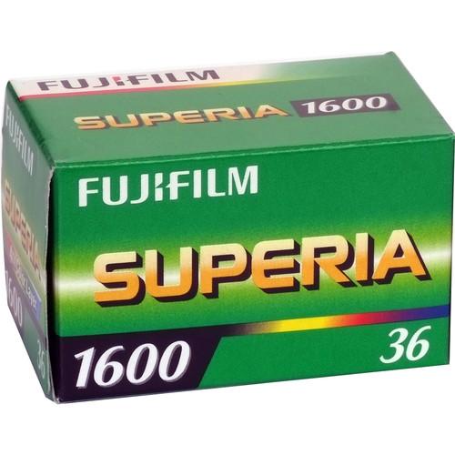 Fujifilm Fujicolor Superia 1600 [CU] Color Negative Film (35mm Roll Film, 36 Exposures, Short-Dated 07/18)