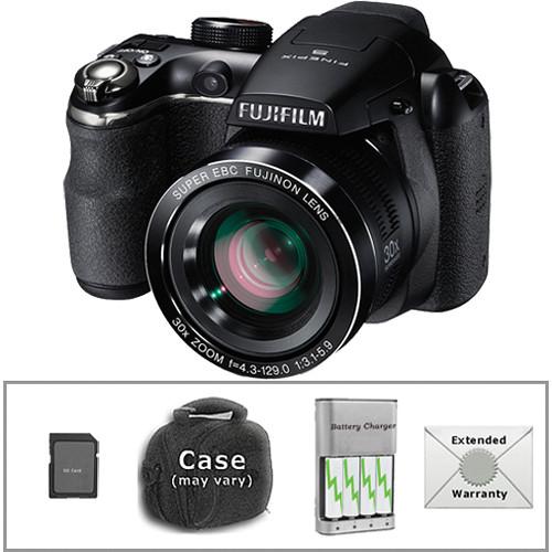 Fujifilm FinePix S4500 Digital Camera with Deluxe Accessory Kit (Black)