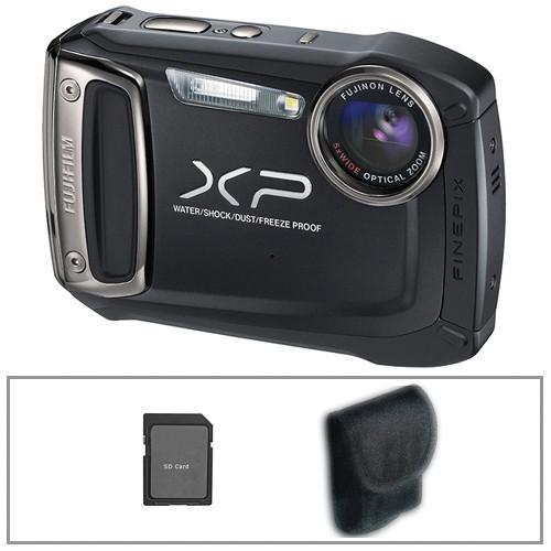 Fujifilm FinePix XP100 Digital Camera (Black) with Basic Accessory Kit