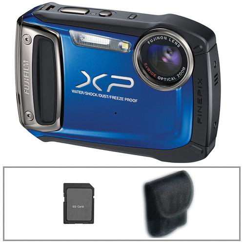 Fujifilm FinePix XP100 Digital Camera (Blue) with Basic Accessory Kit