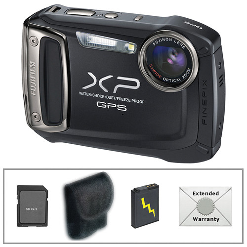 Fujifilm FinePix XP150 Digital Camera (Black) with Deluxe Accessory Kit