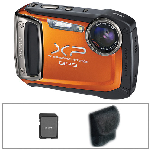 Fujifilm FinePix XP150 Digital Camera (Orange) with Basic Accessory Kit