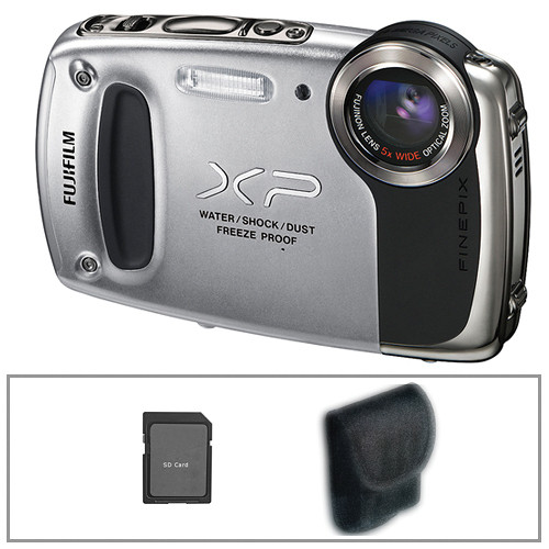 Fujifilm FinePix XP50 Digital Camera (Silver) with Basic Accessory Kit